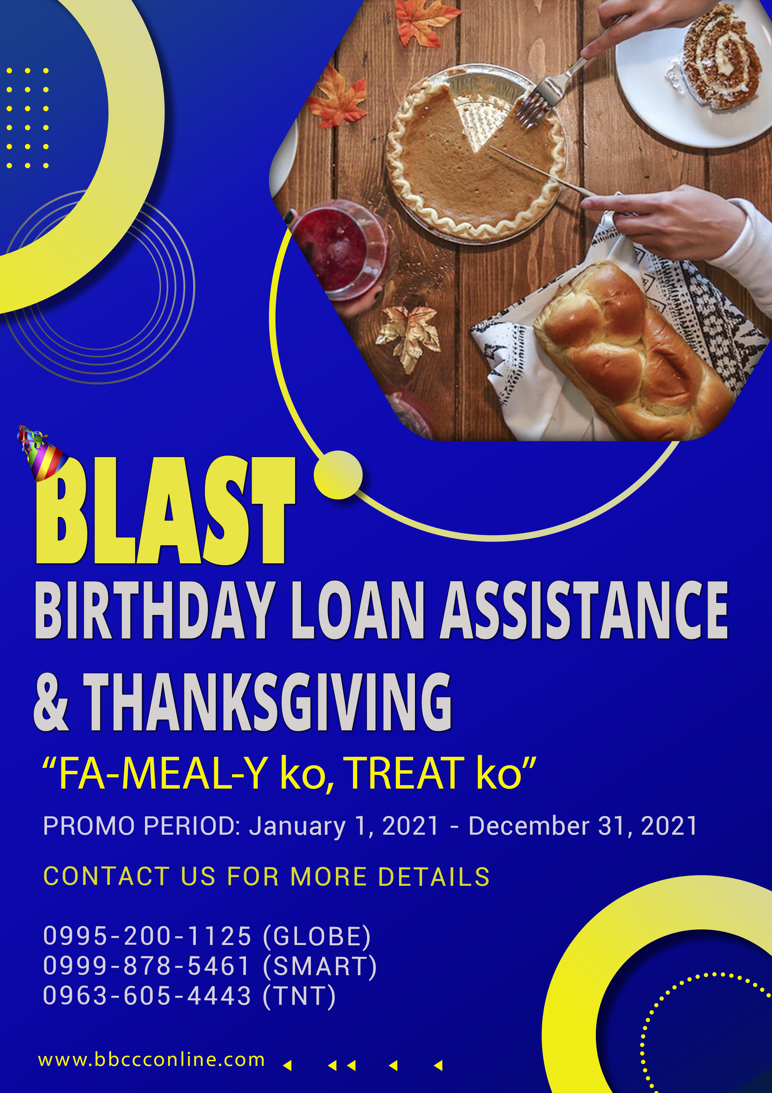 Birthday Loan Assistance & Thanksgiving Promo